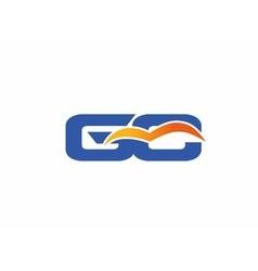 GC letter logo vector image vector image