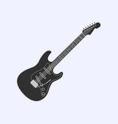 guitar icon simple of guitar icon vector image