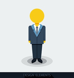 icons of businessman or manager vector image vector image