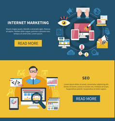 internet marketing banners vector image