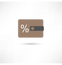 purse and percent vector image vector image