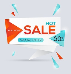 Sale paper banner Sale and discounts Super Sale vector image vector image