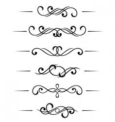 swirl elements vector image vector image