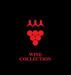 wine collection logo vector image
