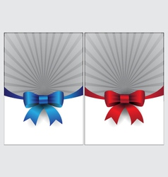 blue and red ribbon page design template vector image