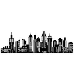Cityscape black icon on white background vector image