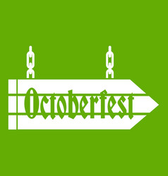 sign octoberfest icon green vector image vector image