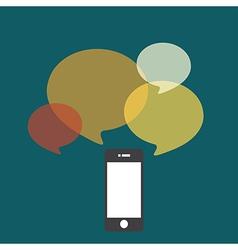 smartphone bubble quote vector image