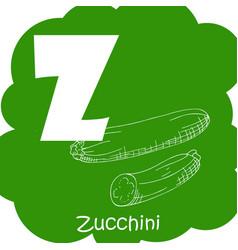 Vegetable alphabet for education vector