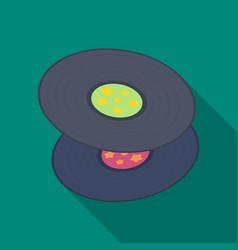 vinyl recordshippy single icon in flat style vector image