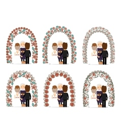 Wedding arch set vector image vector image