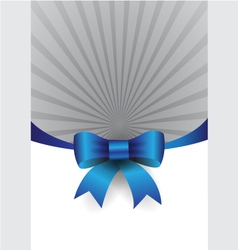 blue ribbon design element vector image