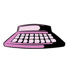 calculator icon cartoon vector image