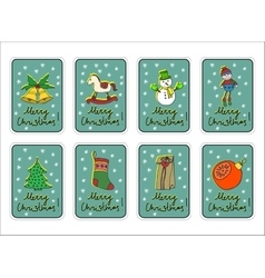 Christmas merry holidays new year greeting card vector image