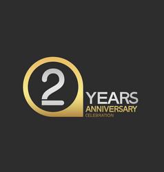 2 years anniversary celebration simple design vector