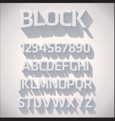 3D Font with shadow vector image