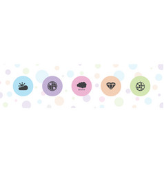 5 shine icons vector