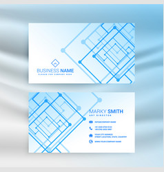 abstract blue technology style business card vector image