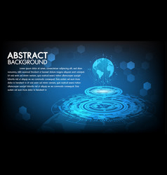 abstract technology background hi-tech global vector image