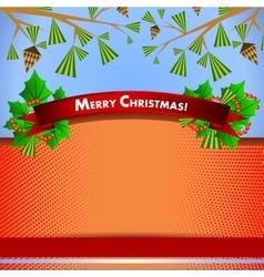 Backdrop for christmas invitation or new year vector