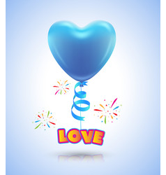 balloon heart for love event poster and card vector image