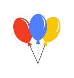 Balloon template design vector