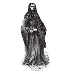 Benedictine monk vintage vector