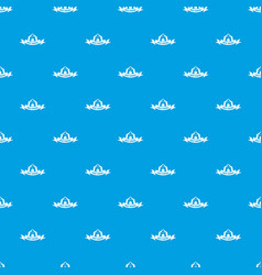 best hiking pattern seamless blue vector image