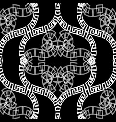 black and white ornamental vintage greek vector image