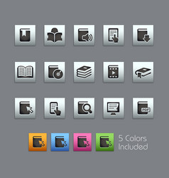 book icons - satinbox series vector image