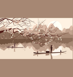 branch of blossoming tree vector image