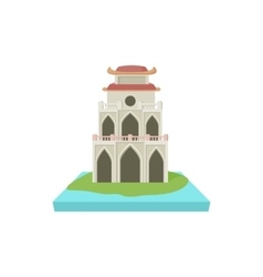 Buddhist temple pagoda icon cartoon style vector image