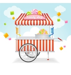 Candy Cart Market Card vector image