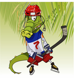 cartoon character funny crocodile in the clothes vector image