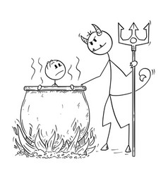 Cartoon of man or businessman who is boiled for vector