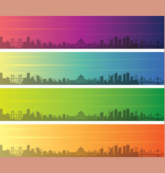 chongqing multiple color gradient skyline banner vector image