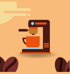 Coffee time image vector