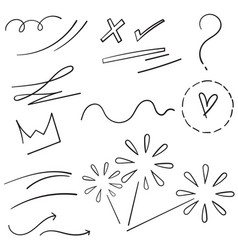 collection design element curly swishes swoops vector image