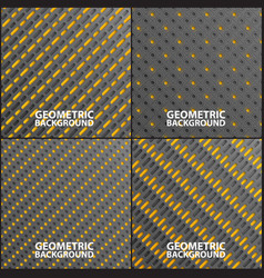 collection of geometric backgrounds vector image
