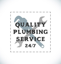 color plumbing service sign template vector image