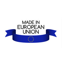 Colored ribbon with the colors of the eu vector