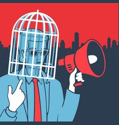 Concept freedom of speech vector