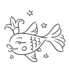 concept of golden fish with vector image