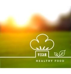 Concept of natural vegetarian health food vector