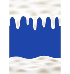Cream wave on blue background vector image