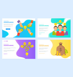 crowdfunding businessmen and finance assets profit vector image