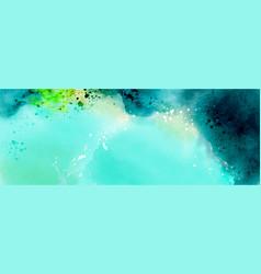 Deep sea water fantasy from splattered dark green vector