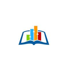 diagram book logo icon design vector image