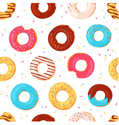 donuts seamless pattern sweet summer print with vector image
