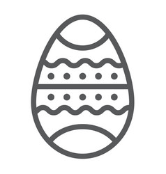 easter egg line icon decor and easter painted vector image